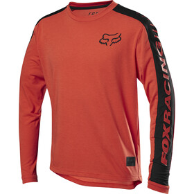 Fox Ranger Dri-Release Maillot à manches longues Adolescents, orange crush